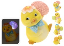 Chicken Polystone with LED Assorted (13cm)