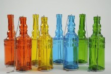 Glass tlighth bottle (set 2/4 colours assorted)