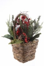 decorated basket with berries