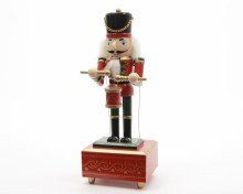 fir wood music box nutcracker