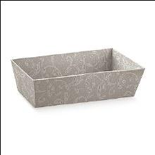 Dove Grey Tray -Vassoio C Damascato T (18x9x7.5cm)