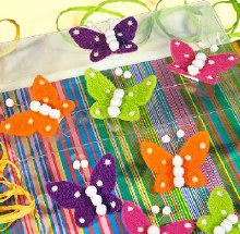 Butterflys stick (7x5.5cm/Orange)