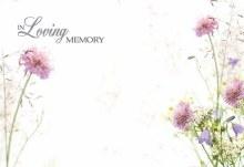 Card In Loving Memory - Wild Flowers x50