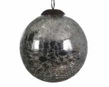 glass crackle Christmas bauble