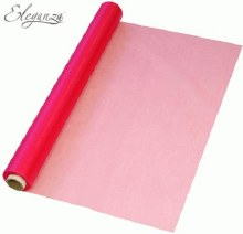 Organza roll (36cm/Hot pink)
