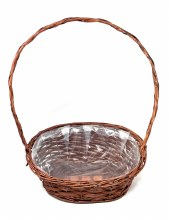Oval Basket Stained Willow Dark brow (38x27x50cm)