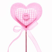 Pick Heart Button Pink (7x50cm)
