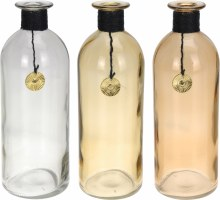 Bottle Glass Assorted (26cm)