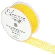 Web Ribbon 38mm Yellow