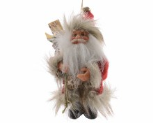 felt Santa with bag w hanger