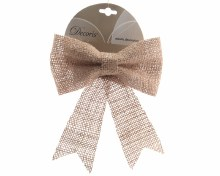 jute bow on wire with silver