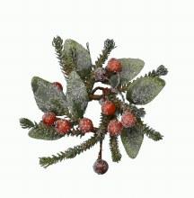 Deco wreath Berries Snow