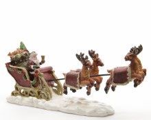 Santa with sledge