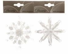 plc 3D snowflake w hanger 2ass