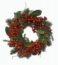 Deco  Wreath w.Berries 60cm