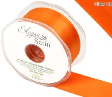 Double Faced Satin 38mm Orange