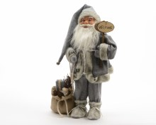 pes Santa with welcome sign
