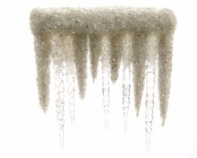 acrylic icicles with hanger
