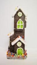 Tall Christmas House Brown