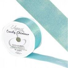 Candy Shimmer Metallic Ribbon Ice Blue 38mmx10m