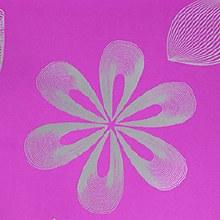 Flower Stencil Pink Design Pap
