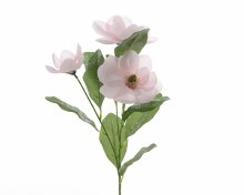silk magnolia o stem w glitter