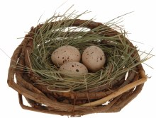 Nest with 3 eggs (13cm)