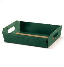 Green Tray Silk - Cesto I. Seta Verde (31x22x9cm)