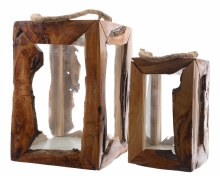 Mulberry wood lantern packed