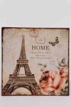zinc wall sign w Paris print