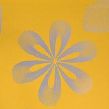 Flower Stencil Design Yellow