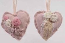 cot heart flower w hanger 2as