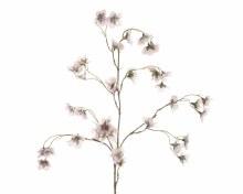 silk blossom branch w snow fin