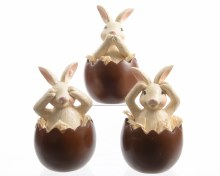 Poly egg with bunny (3 assorted)