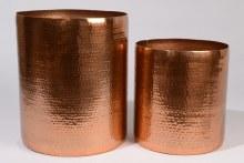 Aluminium stool hammered (Almond)