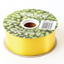 Poly Ribbon Satin Yellow (4.8cm x 91m)