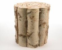 Bark pillar wood slice