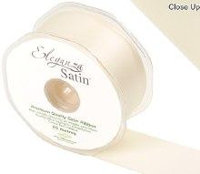 Double Faced Satin 38mm Cream