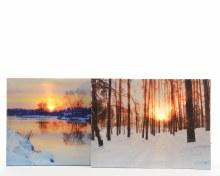 LED art frame sunset