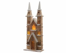 LED wooden cathedral ind bo n