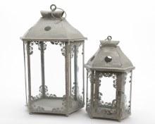 iron lantern w cut-out detail