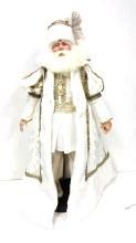 18in Royal Ivory Gold Santa