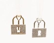 alloy lock w key hanger 2colas