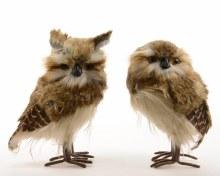 foam owl with pluche 2ass
