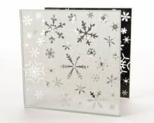 glass tealightholder snowflake