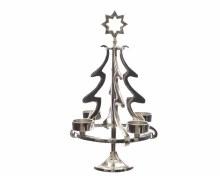 aluminium tree for 4 tealights