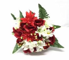 Bush Rose/RoseBud/Dahlia/Orchid Red x22