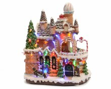 LED gingerbread house ind GB