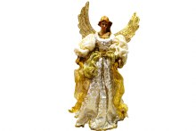 "27"" Angel Tree Topper Ivory Gold"