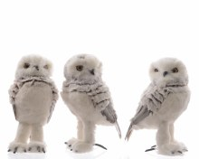 foam owl with plush 3ass